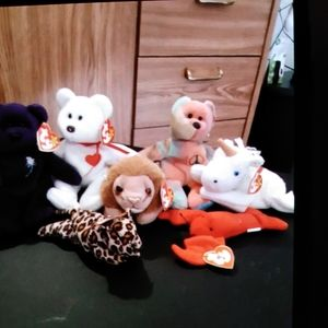 Collectible beanie babies w / errors
